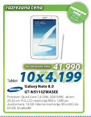 Tablet PC GALAXY NOTE 8.0