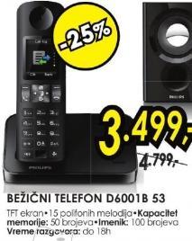 Bežični telefon D6001b 53