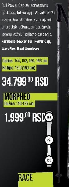 Štapovi za skijanje Morpheo