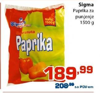 Smrznuta paprika za punjenje