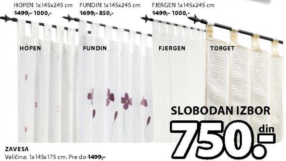 Zavesa Fjergen 1x145x245cm