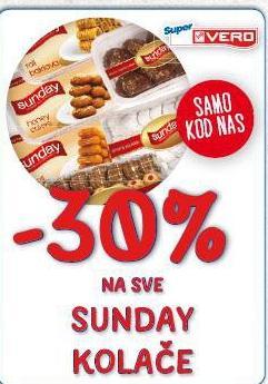 -30% na sve Sunday kolače