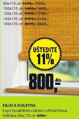 Roletna Filuca 120x170