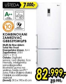 Kombinovani frižider Gbb5395wqpb