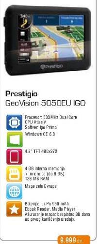 GPS GeoVision 5050EU IGO