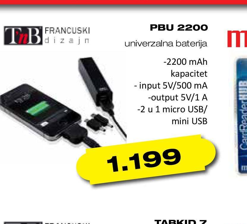 Baterija Powerbank PBU2200