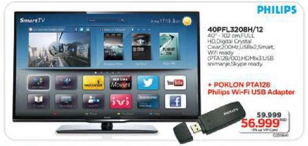 "Televizor LED 40"" 40pfl3208/12 Poklon Philips WiFi adapter"
