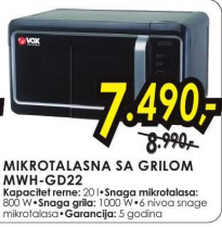 Mikrotalasna sa grilom MWH-GD22