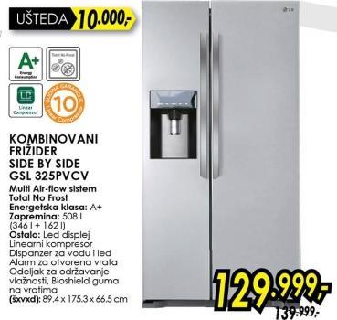 Kombinovani frižider Side By Side Gsl 325pvcv