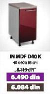 Kuhinjski element IN MDF D40 K bordo sjaj
