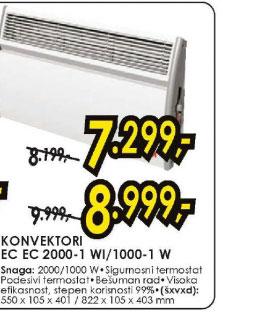 Konvektorska grejalica EC 2000-1WI