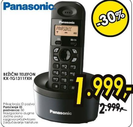 Bežični fiksni telefon KX-TG1311FXH