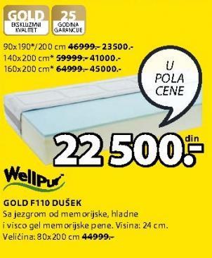 Dušek Gold F110 140x200cm