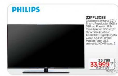 LED televizor 32PFL3088