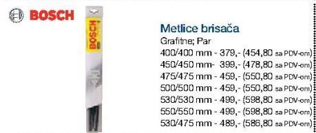Metlice brisača 450/450mm