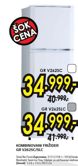 Frižider kombinovani GR-V262SC