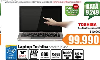 Laptop Satellite P845t