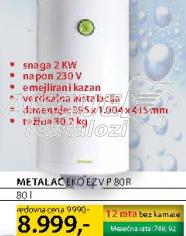 Bojler EKO EZV P 80 R