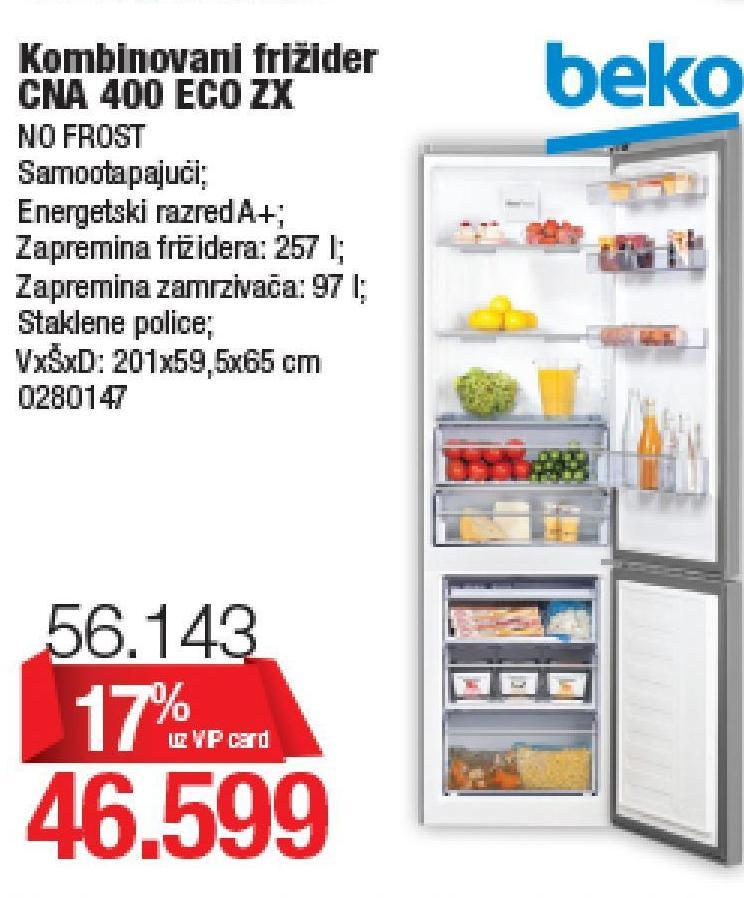 Frižider CNA 400 EC0 ZX