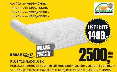 Naddušek Plus T20 180x200
