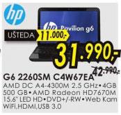 Laptop Pavilion G6 2260SM C4W67EA