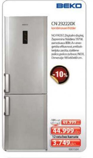 CN 232220X frižider sa zamrzivačem