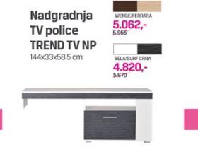 Nadgradnja TV police Trend TV NP bela/surf crna