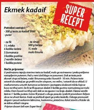 Recept - Ekmek kadaif