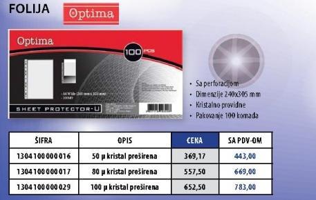 Folija 100 mikrona Optima