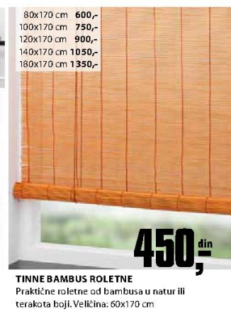 Bambus roletna Tinna 80x170 cm