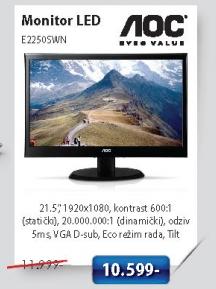 Aoc Monitor LED E2250Swn