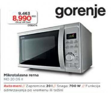 Mikrotalasna Rerna Mo20 DS
