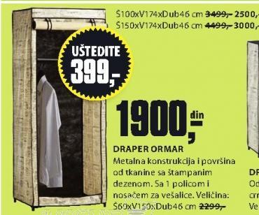 Ormar Draper 100x174x46