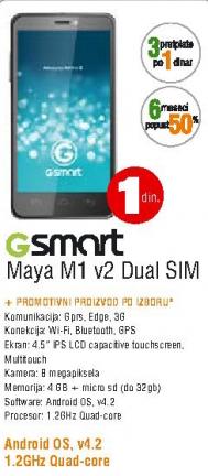Mobilni telefon GSmart MAYA M1 Dual SIM