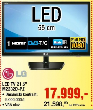 "Monitor 21.5"" LG M2232D-PZ"