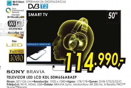 Televizor LED LCD KDL-50W656ABAEP