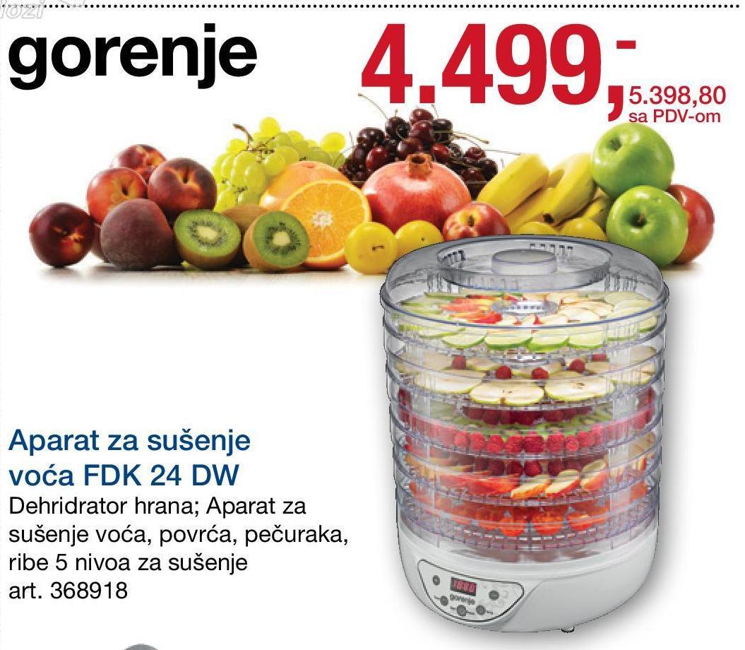 7c0bb9367825 Gorenje FDK DW bílá za akční cenu. Porovnanie cien tovarov v e-obchodoch.  Nakupujte za najnižšie ceny. Sušička potravin podnosů