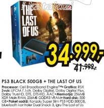 Konzola PS3 Black 500GB The last Of Us