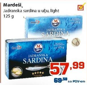 Sardina jadranska light
