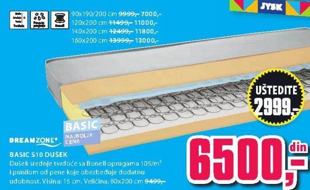 Dušek Basic S10 90x190/200