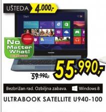 Laptop Ultrabook Satellite U940-100