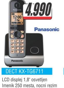 Fiksni telefon DECT KX-TG6711