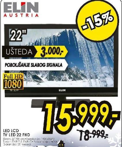 Televizor LED LCD TV LED 22 FHD