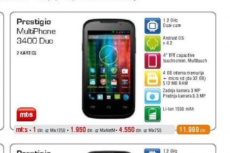 Mobilni telefon 3400 MultiPhone Duo