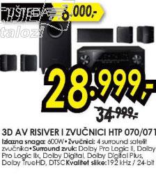 3D AV risiver i zvučnici HTP-070