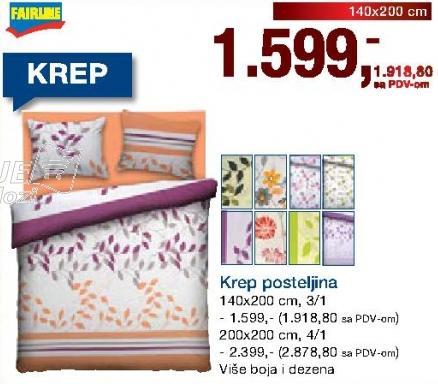Krep posteljina 140x200cm 3/1