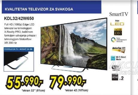 Televizor LED LCD KDL-42W650ABAEP