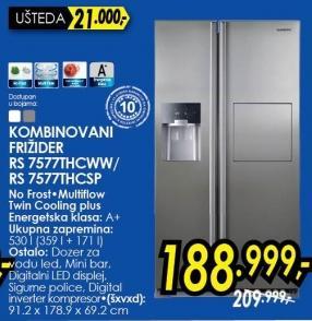 Kombinovani frižider RS7577THCWW/SP