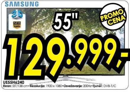 """Televizor LED 55"""" 3D Ue55h6240"""
