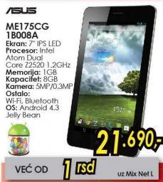 Tablet Fonepad Me175cg 1b008a